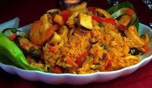 arroz con calamares y mejillones