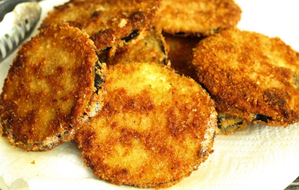 berenjenas rebozadas con pan rallado