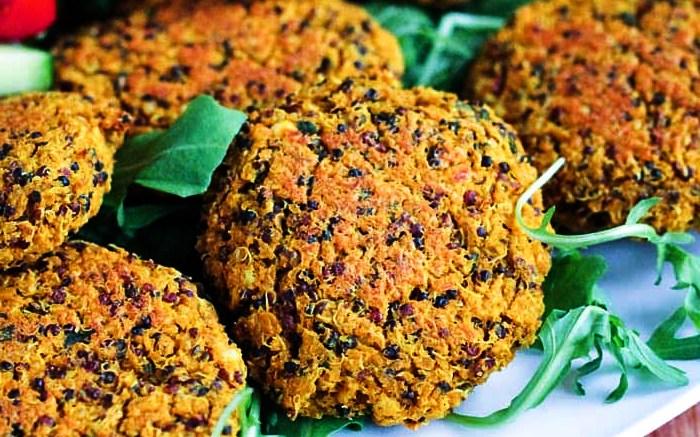 hamburguesas de quinoa veganas