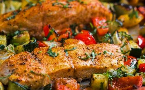 lenguado al horno con verduras
