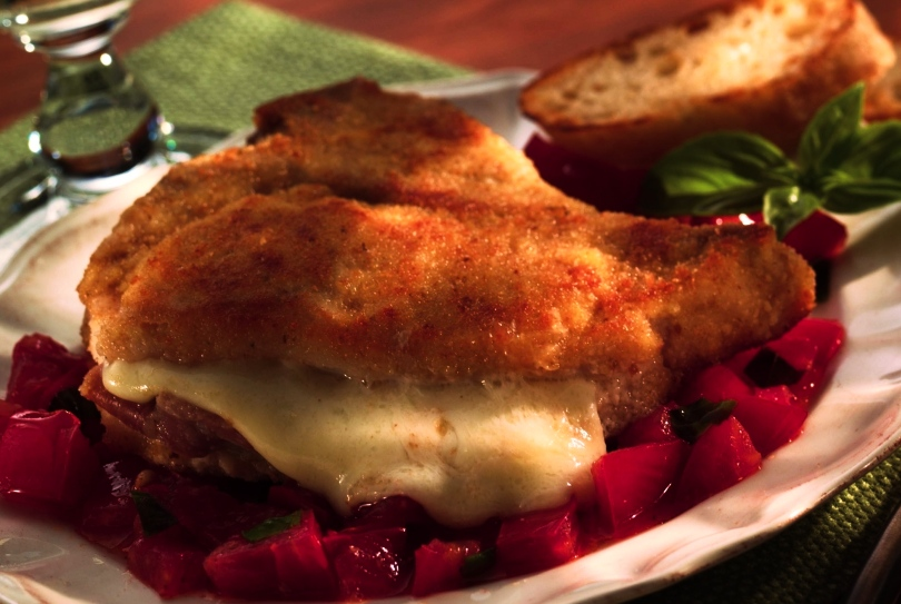 milanesa rellena de queso