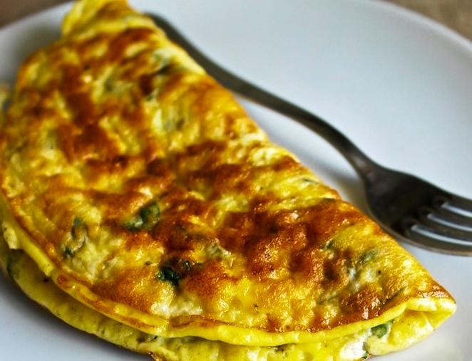 omelette de pollo y queso