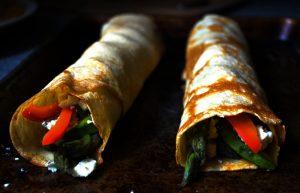 panqueques salados rellenos vegetarianos
