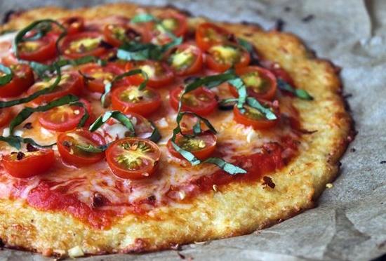 pizza de coliflor light
