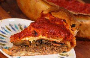 pizza rellena con carne