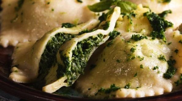 ravioles de ricota y espinaca