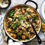 risotto de pollo