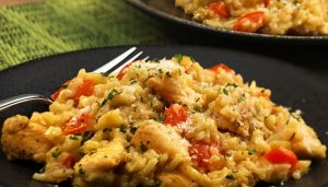risotto de pollo al curry