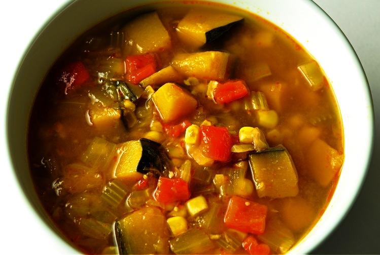 sopa de calabaza con elote