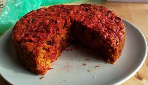 torta de remolacha y zanahoria